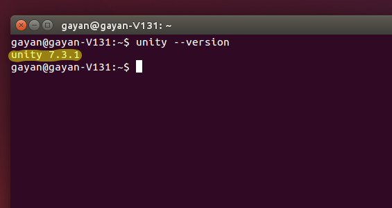 Unity version (Ubuntu 14.10)