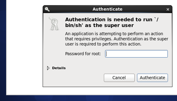 VirtualBox 'Guest Additions' asking for the root password (CentOS 6.5 VM)