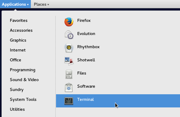 Newly added applications being displayed on the 'Applications' Menu in GNOME Classic (Fedora 21)