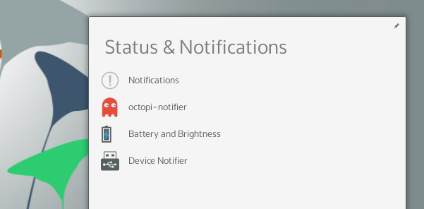 Enhanced notifications and status updates in Plasma 5 ('KaOS 2015.02')
