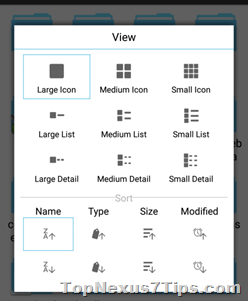 views in file manager in Android lollipop