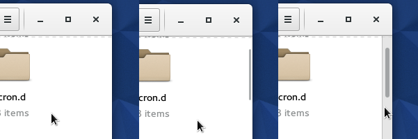 Distraction-free scroll-bars in Gnome 3.16.2 (Fedora 22)