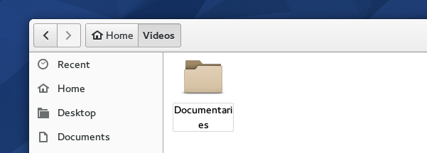 Folder with a short name being displayed in 'Files' (Fedora 22)