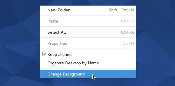 Giant right-click context menu (Fedora 22 Gnome)
