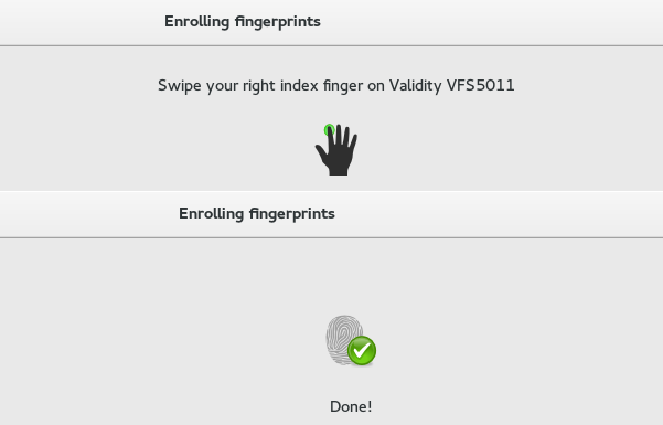 Validity VFS 5011 not yet working properly in Fedora 22
