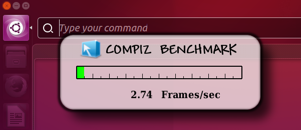 Compiz FPS on HUD (idle) - Ubuntu 15.10