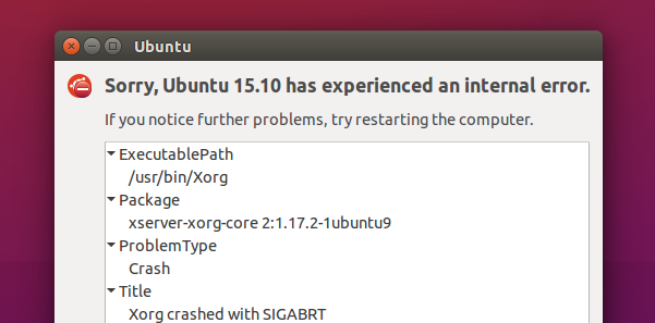 X.org crash report (Ubuntu 15.10)