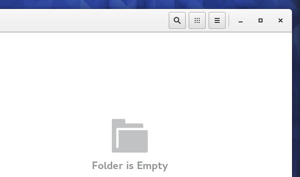 Empty folder template in GNOME 3.18 (Fedora 23)