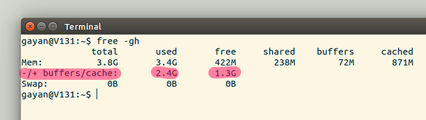 Explanation of what's displayed under 'buffers & cache' in free -gh command output (Ubuntu 15.10)