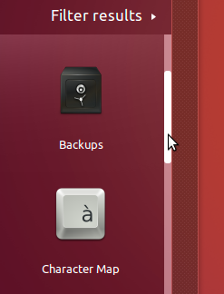 GNOME3 scroll-bars used in Dash (Ubuntu 16.04 LTS)
