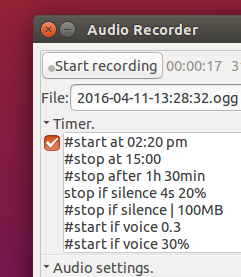 Timer feature of Audio Recorder 1.7