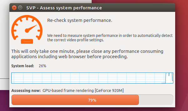 SVP analyzing system performance (Ubuntu 16.04 LTS)