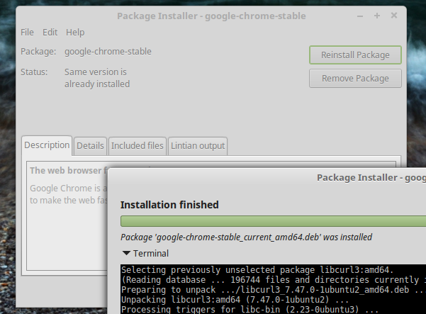 Installing a .deb package in Linux Mint 18 Cinnamon - It works!