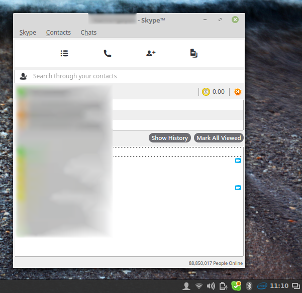 Skype running on Linux Mint 18 Cinnamon