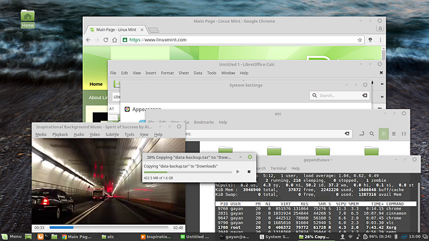 System Responsiveness test - Illustration (Linux Mint 18 Cinnamon)