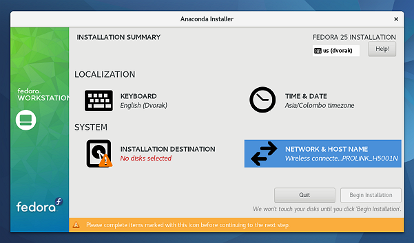 Anaconda-Fedora-25-installer-in-action