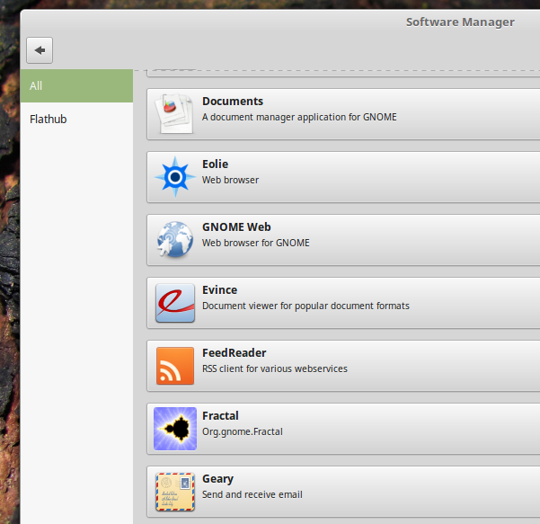 Flatpak-section-of-the-Software-Manager-Linux-Mint-18.3