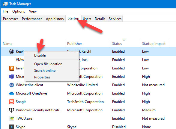 Disable-startup-when-Windows-Defender-will-not-turn-on